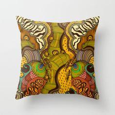 Caravan Pattern Throw Pillow by Antepara |... — | Wicker Furniture Blog www.wickerparadise.com