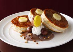 ホテルニューオータニに秋の新作キャラメルマロンパンケーキが登場
