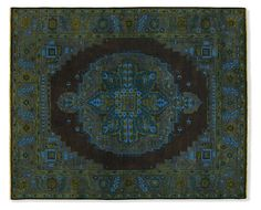 An intricate Persian-inspired pattern and elegant finish give this rug a vintage feel yet allow it to work with any style of furniture. Made of hand-spun 100% wool, Heriz features geometric floral motifs with a striking center medallion and wide, contemporary border. This dense, soft rug is hand-knotted for outstanding durability and undeniable beauty. Please note that shedding is a natural occurrence in high-quality wool rugs, but will decrease over time. The amount of shedding will depend…