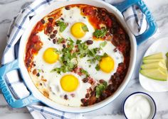 Mexican Egg & Black Bean Bake by sweetpotatochronicles  #Eggs #Black_Beans #Mexican