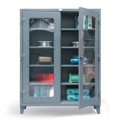 Strong Holdu0027s See Thru Door Steel Lockable Storage Cabinets Are The Visible  And Secure Way To Store Equipment. Get Strong Hold Heavy Duty Storage  Cabinets ...