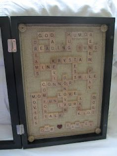 DIY Tutorial - Family Scrabble shadow box