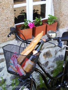 """""""Borrow our bicycles and take a picnic"""", La Cidreraie, Flers, Normandy #France #bicycles #holiday"""