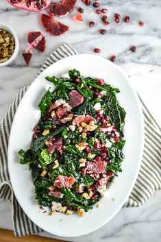 Massaged Kale Salad with Blood Orange and Pomegranate | Things I Made Today