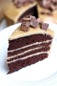 Chocolate Cake with Caramel Frosting on MyRecipeMagic.com