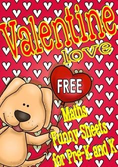 Valentine Love Free Funny Math Sheets for Pre-K/K