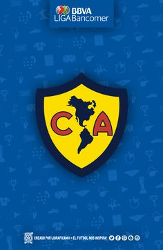 Club America of Mexico wallpaper. Mexico Wallpaper, Football Wallpaper, Ferrari Logo, Football Players, Superhero Logos, My Favorite Things, Champion, Cricut, Sticker