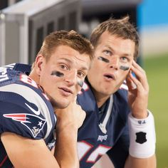 Tom Brady and Rob Gronkowski