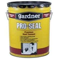 4.75-Gal. Pro Seal Premuim Roof and Flashing Cement-7345-GA at The Home Depot