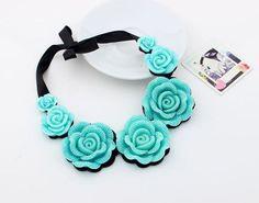 Hot Fashion Retro Rose Flower Pendant Rhinestone Lace Short Clavicle Necklace #UnbrandedGeneric