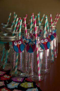 Plastic owl milk bottles for the kids