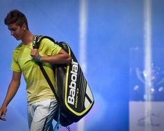 An Australian tennis star of the future? Thanasi Kokkinakis, Hyundai Hopman Cup 2013, Perth Arena. Kokkinakis stepped in for the injured US player John Isner. RAW IMAGE
