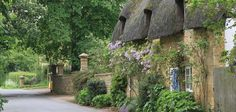 A cottage in the Cotswolds, England