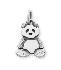 A powerful symbol of inspiring tranquility, the panda is perfectly captured in this sterling silver charm.