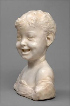 Settignano - portrait bust of a laughing child - 15th century - Florence, Italy