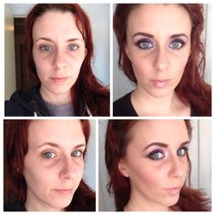 This is my before and after using all Younique! No photoshop, just beautiful, naturally based, amazing makeup ; Amazing Makeup, No Photoshop, Makeup Transformation, Younique, Best Makeup Products, Beautiful, Awesome Makeup