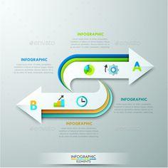 Modern Infographics Arrow Template
