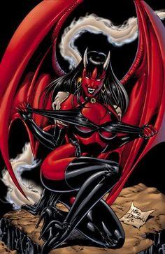 Demon Art, Ange Demon, Fantasy Art Women, Dark Fantasy Art, Fantasy Artwork, Dark Art, Comic Book Characters, Comic Character, Comic Books