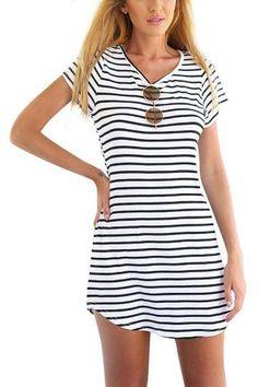 Striped Dress -YOINS