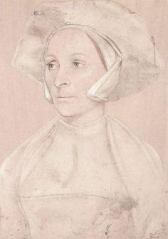 Artist: Holbein d. J., Hans, Title: Porträt einer englischen Dame mit Hut und Schaube, Date: 1532-1543