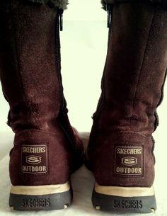 Skechers USA  Women's Brown Winter Boots Size 6.5 #Skechers #Causal #Boots #Winterboots
