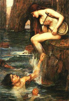 'The Siren' John William Waterhouse, 1900 | by Öpheliä
