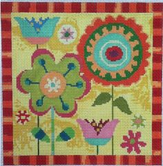 Ready for some autumn stitching? Fall Garden - Birds of a Feather Trunk show (20% off canvases) through August 2014. Check it out at www.needlepoint.com