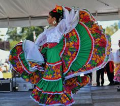 The folk dance of Mexico comes from it's European and African heritages. It's a variety of regional and ethnic traditions and cultures and the dance varies throughout the different regions.