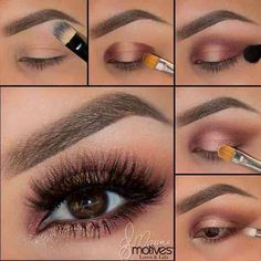 Copper creased eye makeup