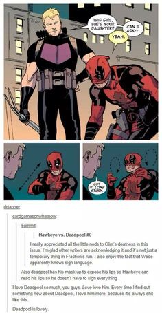 Deadpool is very thoughtful. Not always pleasant thoughts, but still thoughtful.
