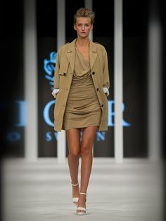 slinky khaki dress from Tiger of Sweden Tiger Of Sweden, Khaki Dress, Mini Skirts, Fashion Outfits, How To Wear, Shopping, Dresses, Women, Style
