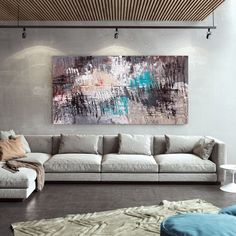 Original Abstract Painting Large Wall Art Bathroom Wall image 1 Abstract Canvas Art, Acrylic Painting Canvas, Colorful Artwork, Bathroom Wall Art, Extra Large Wall Art, Office Wall Art, Modern Wall Decor, Texture Art, Contemporary Art