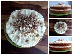 Cake with mascarpone and hazelnuts