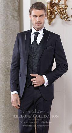 Sort dress til bryllup og fest. Matchende brokadevest og skjorte har vi også www.abelone.no