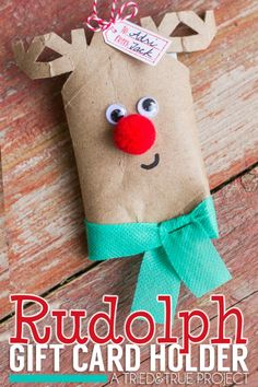 Rudolph Gift Card Holder: Holiday Inspiration