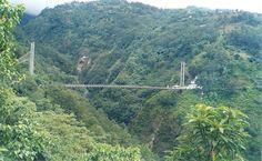 Sikkim - Singshore BridgeSing near Pelling is the the highest suspension bridge of Sikkim at 198 MTR, Span (650 ft) over Singshore Khola On Dantam Utteray Road in West Sikkim.