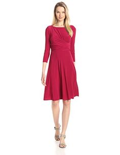 Kasper Jersey Wrap Dress in Raspberry Red - http://www.womansindex.com/kasper-jersey-wrap-dress-in-raspberry-red/