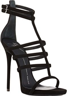 d28d144bd541 Giuseppe Zanotti Suede Strappy Sandals Sandals Outfit