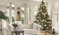 Christmas decor. Interior design by MILIEU editor Pamela Pierce inspired by French, Swedish, Belgian, European, Gustavian, Scandinavian antiques, modern art, minimal, feminine, romantic, timeless, tranquil, farmhouse style and elegant traditional decor, reclaimed stone floors, biots, white roses, linen, slipcovers, ruffles, skirted tables, Lefroy Brooks fixtures, cremone bolts, steel windows and doors, rustic wood, white, neutrals, French country, Chateau Domingue, oversize sconces, and…