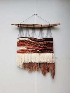 Xl woven wall hanging terracotta home decor wall weaving wall hanging rustic home decor tapestry weaving handwoven wall art bohemian constellation by heather lezla on etsy Weaving Textiles, Weaving Art, Tapestry Weaving, Loom Weaving, Hand Weaving, Weaving Wall Hanging, Crochet Wall Hangings, Diy Hanging, Tapestry Wall Hanging