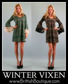 Winter Vixen Dress available online at Brittish Boutique!