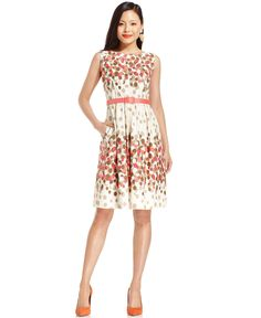 Jessica Howard Dress, Sleeveless Printed Belted  Web ID: 811090    1 review  $79.00