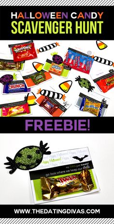 FREE printable Halloween Scavenger Hunt Clue Cards.  Such a fun and easy idea to make fun memories.  Would work for the hubby or kids! www.TheDatingDivas.com