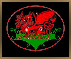 Welsh Dragon History | Welsh Dragon with Celtic Knotwork Design