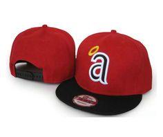 New Era MLB Los Angeles Anaheim Red Black Snapback Hats Caps 3553! Only $7.90USD