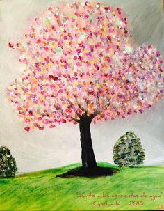 """Pintura acrílica en canvas 8""""x10"""" Cynthia R."""