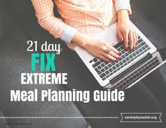 21 Day Fix extreme guide