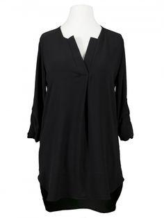 Damen Chiffon Bluse Tunikastil, schwarz von Diana bei www.meinkleidchen.de