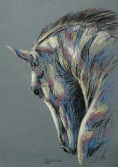 More equine art inspirations & gallery StajniaSztuki. Horse Drawings, Animal Drawings, Art Drawings, Horse Canvas Painting, Painting & Drawing, Animal Paintings, Horse Paintings, Pastel Paintings, Beautiful Paintings