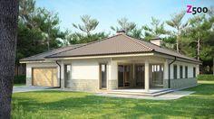 Проект дома :: Z80. Одноэтажный дом с гаражом на 2 машины. :: Строительная…